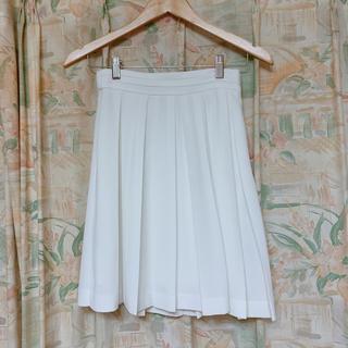 ミスティウーマン(mysty woman)のmysty woman 膝丈ホワイトスカート(ひざ丈スカート)