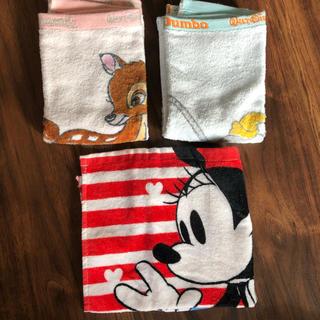 ディズニー(Disney)のミニーマウス バンビ ダンボ タオル(ハンカチ)
