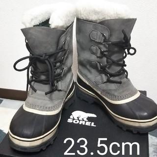 ソレル(SOREL)のスノーブーツ カリブー  NL1005-051-Shale(ブーツ)