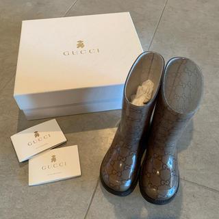 グッチ(Gucci)のSALE!希少!GUCCI childrenレインブーツ(長靴/レインシューズ)