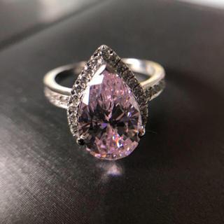 【Sona】可愛い ピンク ペアシェイプ  リング(リング(指輪))