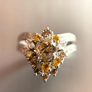 「天然ブラウンダイヤモンド」プラチナリング!(リング(指輪))