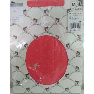 ポール&ジョーシスター(PAUL & JOE SISTER)の タイツ[日本製]  コーラルピンク ハート(タイツ/ストッキング)