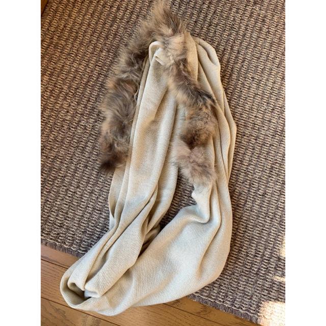 mystic(ミスティック)の再値下げ!ミスティック ファー付きストール レディースのファッション小物(マフラー/ショール)の商品写真