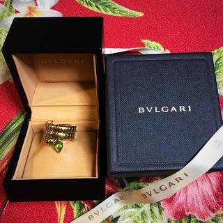 ブルガリ(BVLGARI)のBVLGARI■ブルガリ トゥボガス スネーク リング■ペリドット K18YG(リング(指輪))