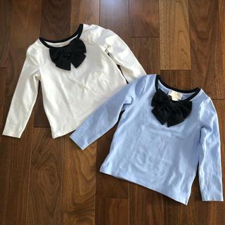 ケイトスペードニューヨーク(kate spade new york)のケイトスペード リボン長袖カットソー 双子用(Tシャツ/カットソー)