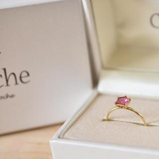 アガット(agete)のCloche クロチェ ピンク トルマリン リング 12号(リング(指輪))