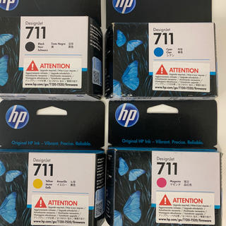 ヒューレットパッカード(HP)のhp プロッター  T520 711インクカートリッジ 4色(オフィス用品一般)