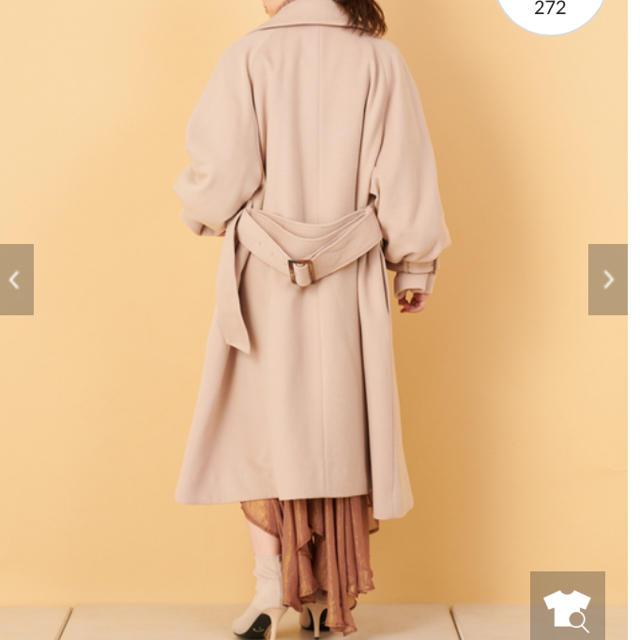 who's who Chico(フーズフーチコ)のボリューム袖コート レディースのジャケット/アウター(ロングコート)の商品写真