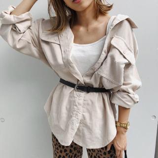 モエリー(MOERY)の【美品】mocoa's ♡ コーデュロイシャツ(シャツ/ブラウス(長袖/七分))