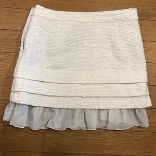 モルガン(MORGAN)のモルガン ホワイトミニスカートS(ミニスカート)