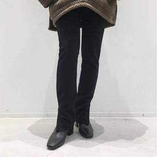 L'Appartement DEUXIEME CLASSE - アパルトモン Wool Zip Leggings ブラック