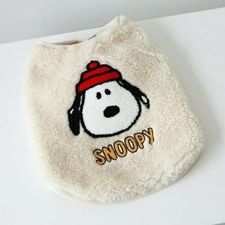 SNOOPY - DAN SNOOPY スヌーピー ペット 犬の服 ボアジャケット