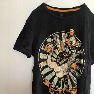 ベルシュカ(Bershka)のアメリカ古着!Tシャツ M Bershka 黒 メンズ レディース 半袖 (Tシャツ(半袖/袖なし))
