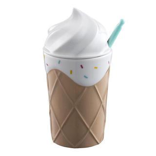 スターバックスコーヒー(Starbucks Coffee)のラスト!スプーン付!アイスクリーム バレンタイン マグカップ 台湾スターバックス(キャラクターグッズ)