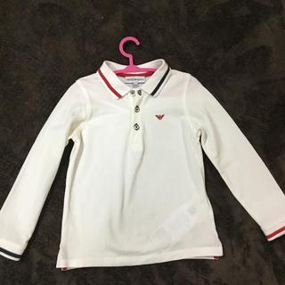 エンポリオアルマーニ(Emporio Armani)のアルマーニ 長袖ポロシャツ  36M98cm ホワイト(Tシャツ/カットソー)