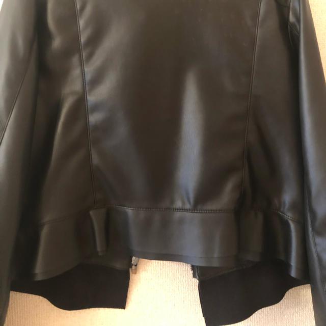 ZARA(ザラ)のZARA皮ジャン黒 メンズのジャケット/アウター(レザージャケット)の商品写真