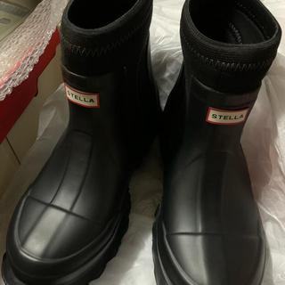 ステラマッカートニー(Stella McCartney)の新品 ステラマッカートニー ハンター レインブーツ UK6 ブラック(レインブーツ/長靴)