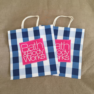 バスアンドボディーワークス(Bath & Body Works)の【新品・国内非売】B&Bショップ袋2枚(ショップ袋)