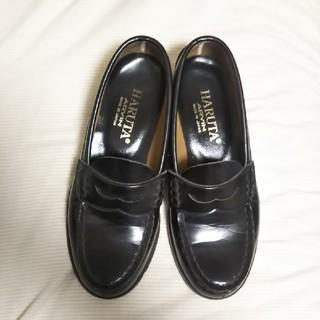 ハルタ(HARUTA)のHARUTA ローファー ブラック 22.5EE(ローファー/革靴)