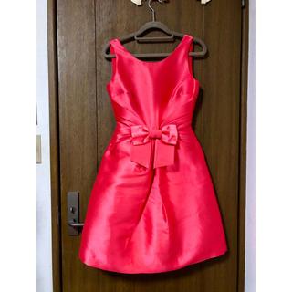 ケイトスペードニューヨーク(kate spade new york)のKate Spade リボン シルク混ドレス ワンピース 00サイズ 美品(ひざ丈ワンピース)