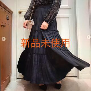 ルーニィ(LOUNIE)のルーニィ  ロングティアードスカート ブラック(ロングスカート)