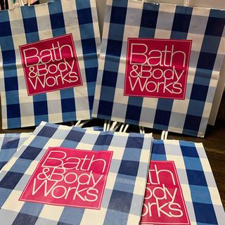 バスアンドボディーワークス(Bath & Body Works)の未使用バスボディーワークス紙袋7枚セット!(ショップ袋)