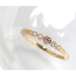 稀少! アーガイル産 ピンクダイヤ BIZOUX リング 6号(リング(指輪))
