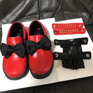 ジェニィ(JENNI)のSISITER JENNI 靴 赤 シューズ 18(フォーマルシューズ)
