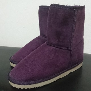 ジーユー(GU)のGU ジーユー  ムートンブーツ M 紫(ブーツ)