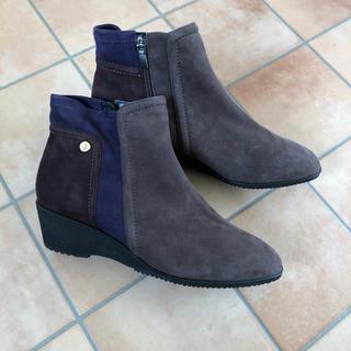 正規*yoshinoya*本革スウェードショートブーツ(ブーツ)