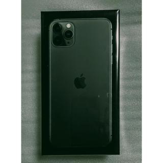 アイフォーン(iPhone)の【国内正規】iPhone 11 pro max 512GBミッドナイトグリーン(スマートフォン本体)