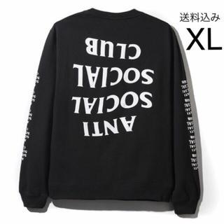 アンチ(ANTI)のXLサイズ Blacked Out Black Long Sleeve Tee(Tシャツ/カットソー(七分/長袖))