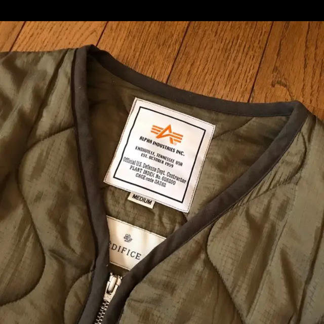 ALPHA INDUSTRIES(アルファインダストリーズ)のアルファ EDIFICE別注 ライナージャケット キルティング visvim メンズのジャケット/アウター(ミリタリージャケット)の商品写真
