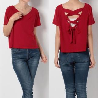 スパイラルガール(SPIRAL GIRL)のTシャツ カットソー トップス バッククロス 新品(Tシャツ(半袖/袖なし))