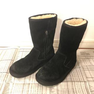 アグ(UGG)のUGG アグ ムートンブーツ 黒 21㎝ 22㎝ 子供 ジュニア 女子 ブーツ(ブーツ)