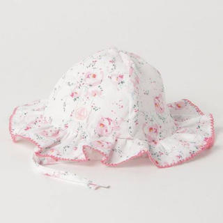 プチバトー(PETIT BATEAU)のプリントベビークロシェ(帽子)