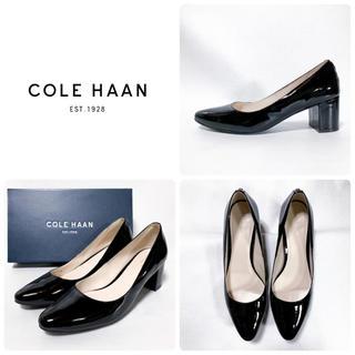 Cole Haan - ■美品 定3.9万 コールハーン パンプス 7.5 24.5 39 黒 エナメル