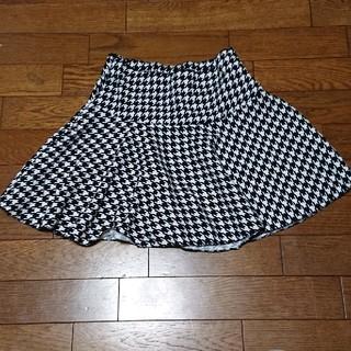 千鳥柄ミニスカート 韓国ファッション(ミニスカート)