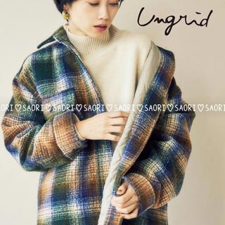 アングリッド(Ungrid)のungrid【新品タグ付】シャギーチェックルーズコート★TODAYFUL(その他)