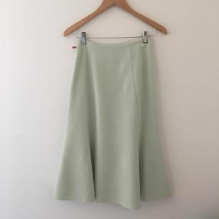トゥモローランド(TOMORROWLAND)のトゥモローランド ballsey ボールジィ  スカート  グリーン 緑 美品(ひざ丈スカート)