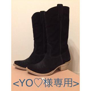 ミュウミュウ(miumiu)の<YO♡様専用>miu miu ☆ スエード ロングブーツ(ブーツ)