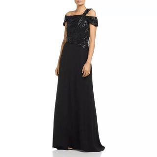 タダシショウジ(TADASHI SHOJI)のロングドレス  ブラック(ロングドレス)