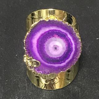 マライカ(MALAIKA)の天然石 リング  指輪 パープルB(リング(指輪))