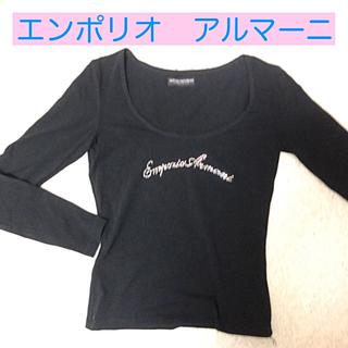 エンポリオアルマーニ(Emporio Armani)の胸元ラインストーン エンポリオアルマーニ(Tシャツ(長袖/七分))
