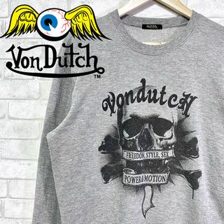 ボンダッチ(Von Dutch)の【Von Dutch】ヴォンダッチ クルースウェット スカル トレーナー/L(スウェット)