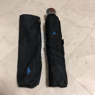 ポロラルフローレン(POLO RALPH LAUREN)の新品ポロラルフローレン  軽量折り畳み傘 黒(傘)