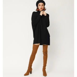 SLY - 【美品】RIB FITTED KNEE HIGH BOOTS