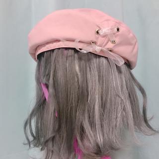 アクシーズファム(axes femme)のサイドレースアップベレー帽(ハンチング/ベレー帽)