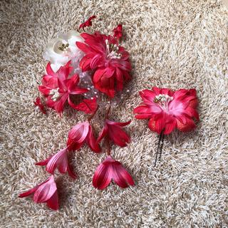 美品✴︎髪飾り ピンク(ヘアアクセサリー)